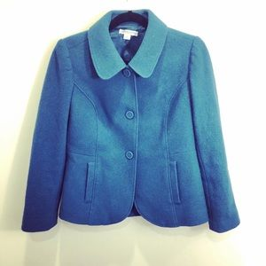 Pendleton Teal Blue Wool Peacoat Size XS